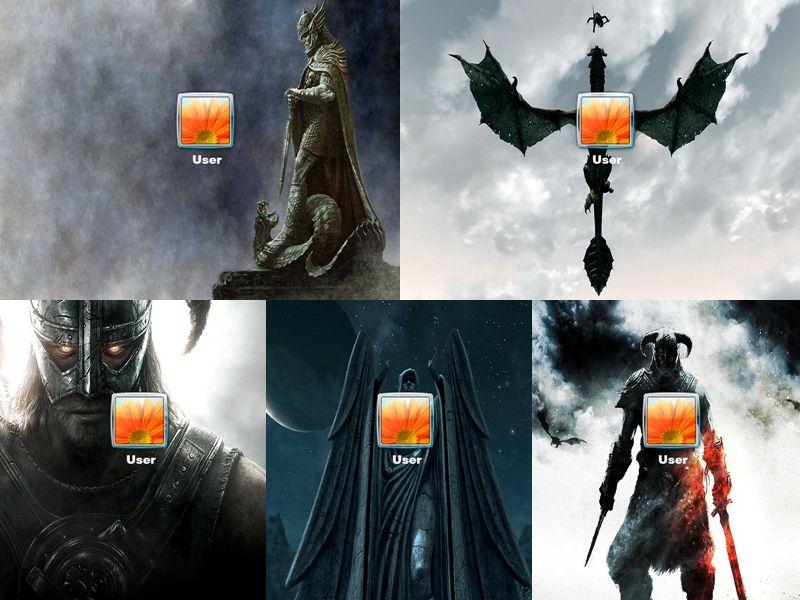 Skyrim Logon Screen