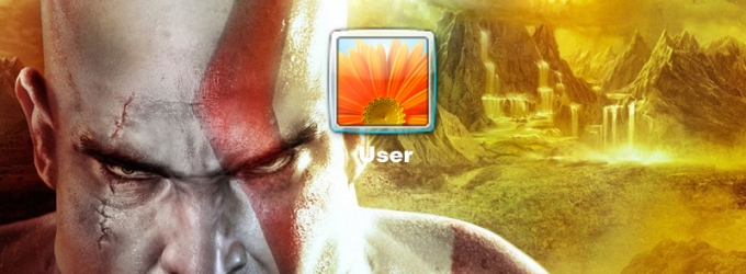 God Of War Logon Screen