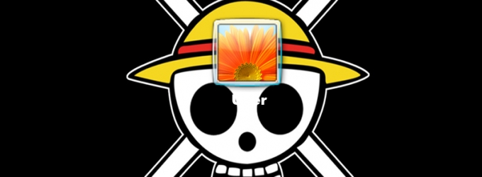 One Piece Skull Logon Screen