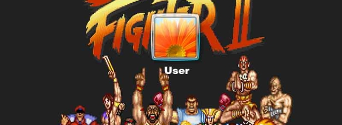 Street fighter Logon Screen